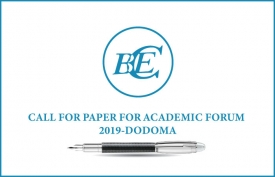 CALL FOR PAPER FOR ACADEMIC FORUM  2019 - DODOMA